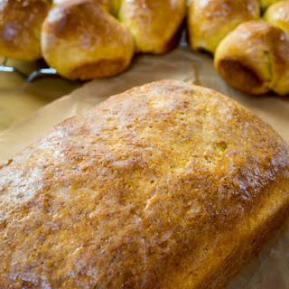 Pumpkin Yeast Bread - #BreadBakers