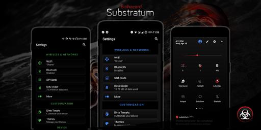 Biohazard Substratum Theme screenshot 10