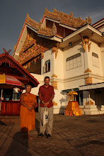 Photo: Day 348 - Another Photo of Rog and a Monk and a Wat