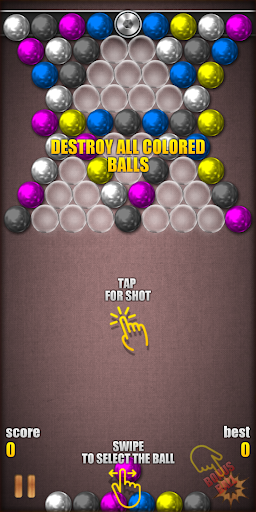 Magnetic Balls HD Free: Match 3 Physics Puzzle 2.2.1.0 screenshots 1