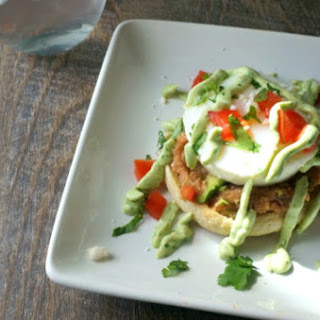 Mexican Eggs Benedict with Avocado Hollandaise