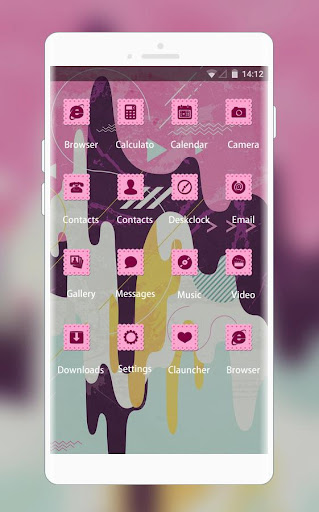 Pink Stylish Ice Cream Free Theme for Jio Phone 1.0.0 screenshots 2