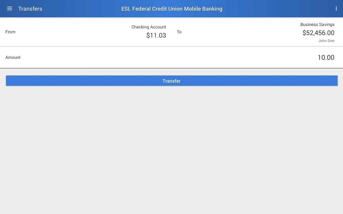 ESL Mobile Banking- screenshot