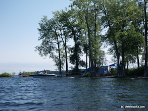 Photo: You can tie your boat up at some sites at Knight Island State Park