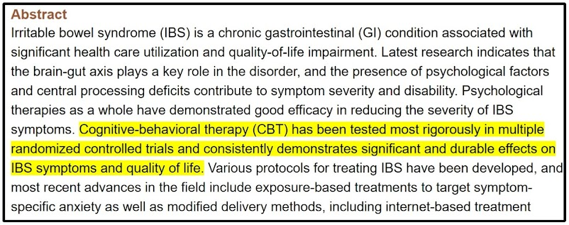 cbt for ibs anxiety