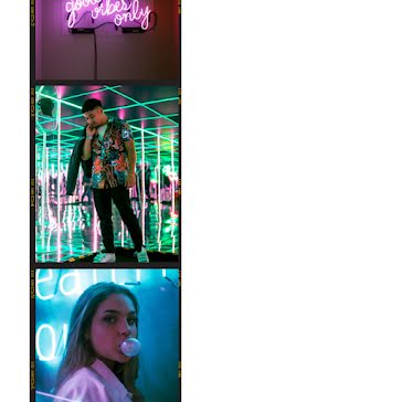 Neon Vibes Frame - Instagram Post Template