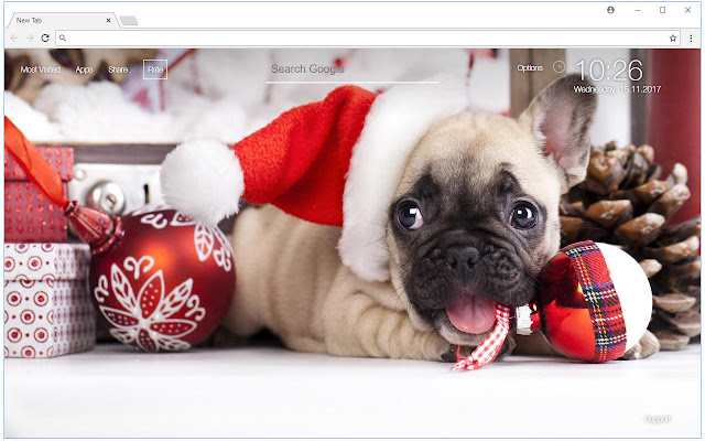 christmas hd wallpaper puppies