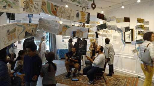 expo carnets de voyage en musique _ jeanne PAPA_ fontainebleau