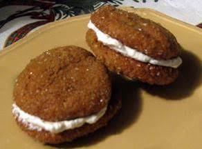 Ginger Cream Molasses Sandwich Cookies
