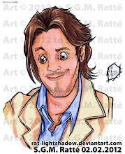 Photo: YES! Another Busted Head, this one for +Mat Jackson! Just so y'all know, I LOVE DRAWING HAIR XD Hee hee. He has nice hair. Hope you like it Mat! :D Markers and Prismapens on printer bond. Art © to S.G.M.R.