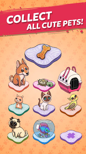 Code Triche Merge Cute Animals: Chat et Chien APK MOD screenshots 4