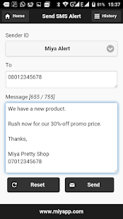 Miyapp Bulk SMS Gateway- screenshot thumbnail