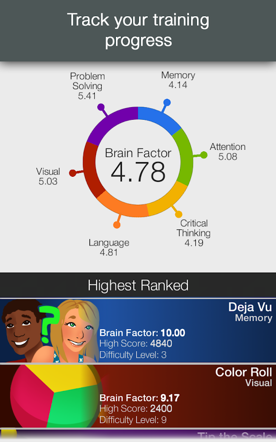 Brainwell Mind & Brain Trainer- screenshot