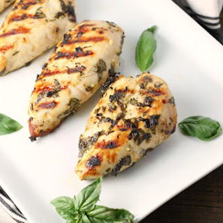 Grilled Lemon Basil Chicken.