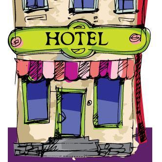 Resultado de imagen para caricatura de hoteles en playas