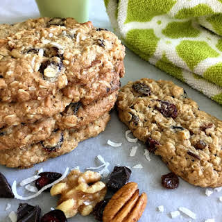 Trail Mix Breakfast Cookies.