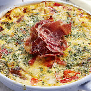 Red Pepper, Potato and Parsley Frittata.