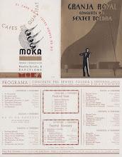 Photo: Saló Doré - Granja Royal - Program Sextet Toldrà 1935-36