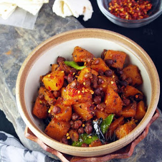 Curried Butternut Squash with Brown Chickpeas