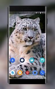 Theme for Lava M20 Snow Leopard Wallpaper - náhled