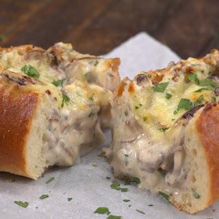 Creamy Garlic Mushroom-Stuffed Bread