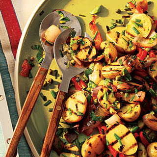 Lemony Grilled Potato Salad