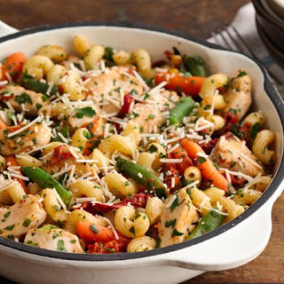 Asiago Chicken and Cavatappi Recipe