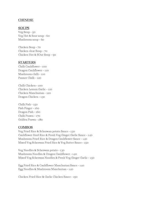Mirchis menu 1