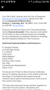 Savannah Children's Book Fest- screenshot thumbnail