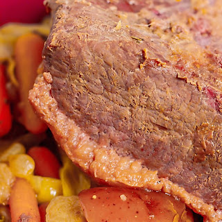Crock Pot Apple Cider Corned Beef and Cabbage Recipe
