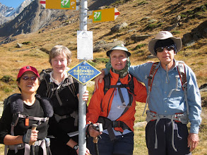 Photo: By the way, we're hiking the last stage of the Europaweg, a challenging trail running from Grachen, above St. Niklaus, to Zermatt.