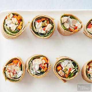 Mediterranean Chicken Wraps.