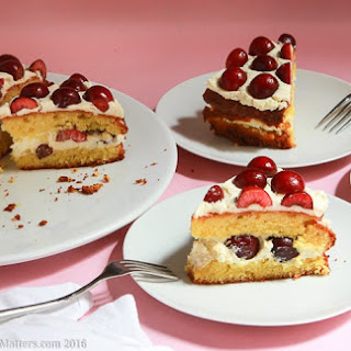 Cherry Almond Flourless Cake