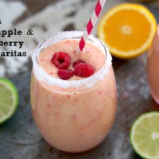 Fresh Pineapple, Raspberry & Orange Margaritas