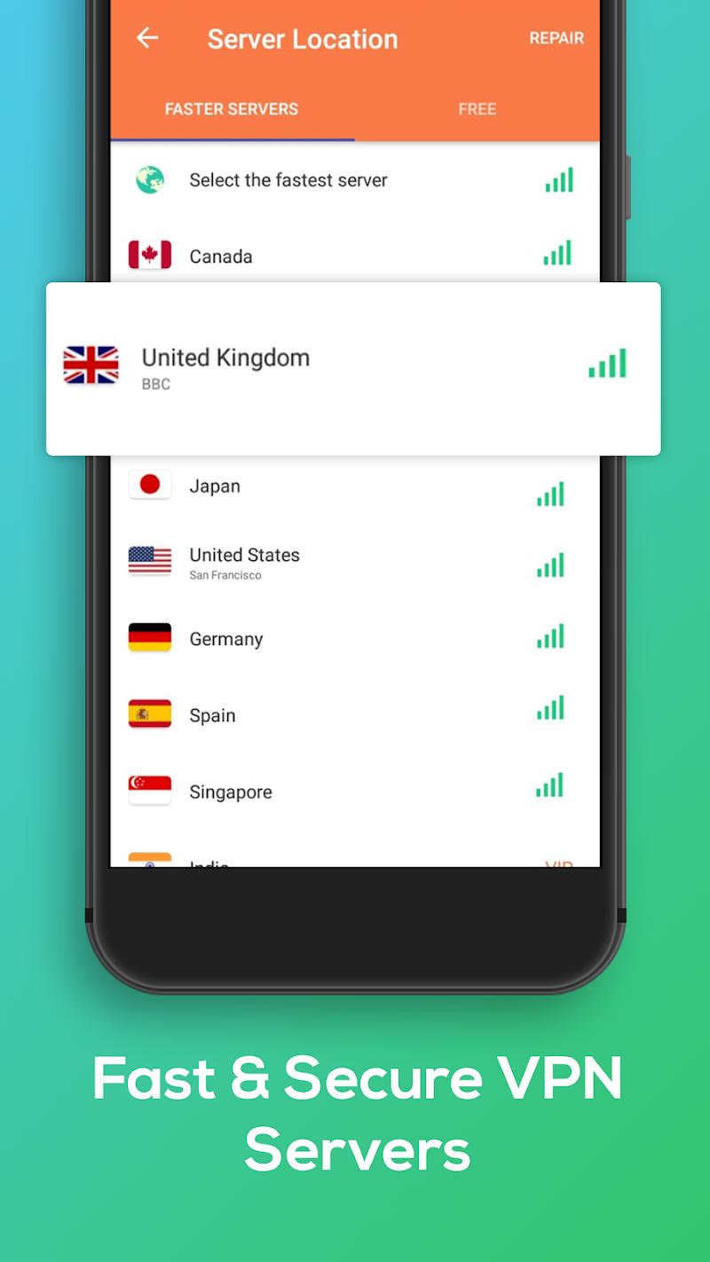 Turbo VPN- Free VPN Proxy Server & Secure Service Screenshot 1