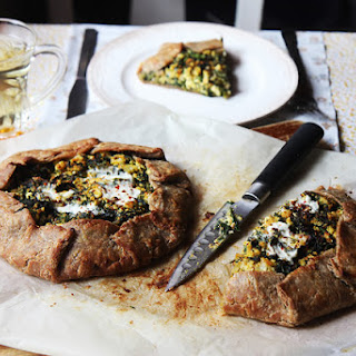Buckwheat and Rye Galette with Chard and Feta