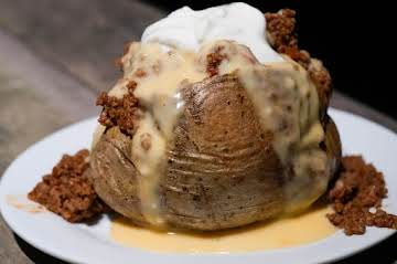 Chili-Cheese Baked Potatoes