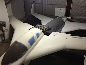Photo: Two Cozy Mk-Ivs do fit in the hangar.  We'd have had more room if we offset one to the side a few feet.