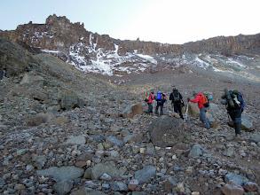 Photo: Climbing up the Western Breach