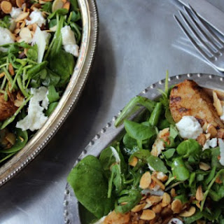 Spiced Pear and Goat Cheese Salad