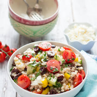 Greek Israeli Couscous Salad.