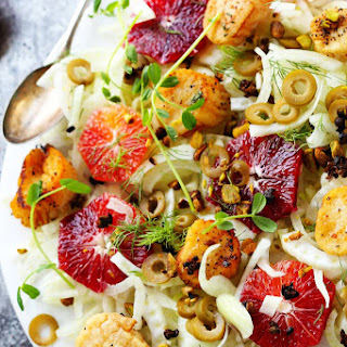 Seared Scallops with Fennel & Blood Orange.