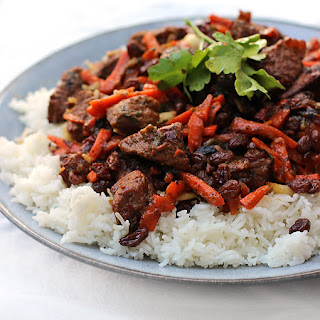 Traditional Kazakh Beef Pilaf