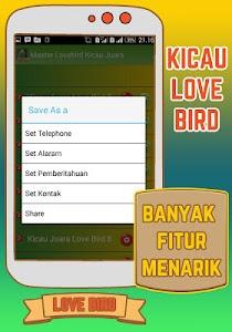 Master Lovebird Kicau Juara screenshot 4