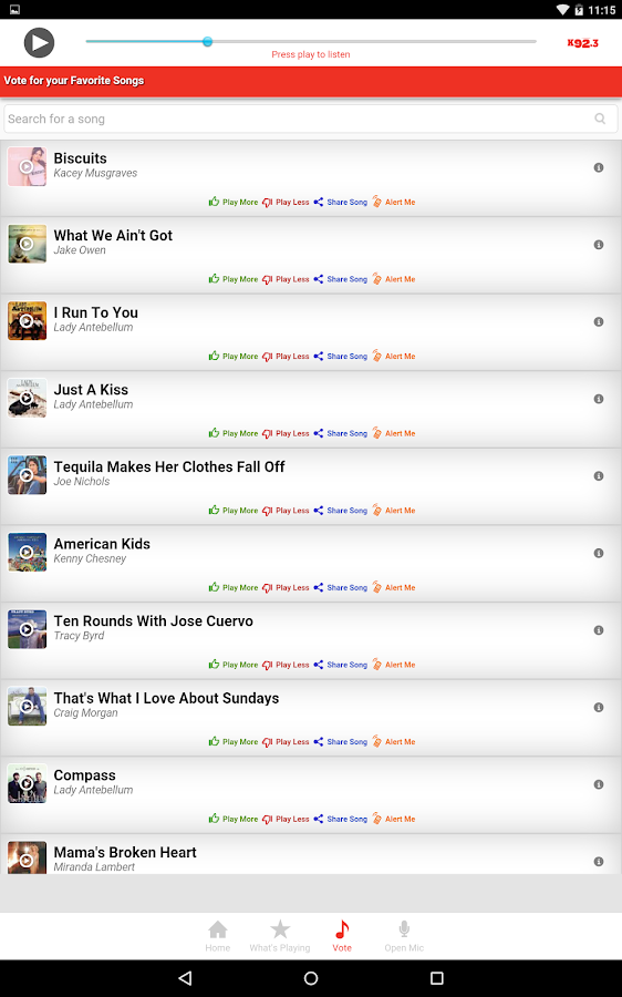 K92.3 - screenshot