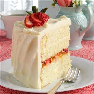 Vanilla Bean Cake with White Chocolate Ganache Recipe