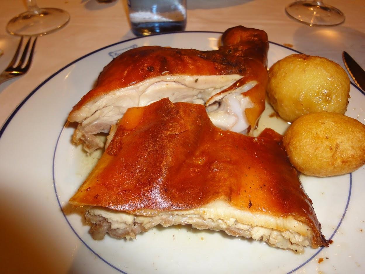 Cochon de lait au Restaurant Botin à Madrid