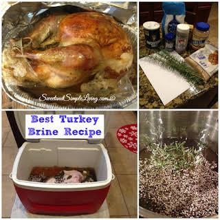 Best Turkey Brine.