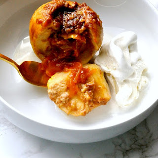 Crockpot Caramel Stuffed Apples