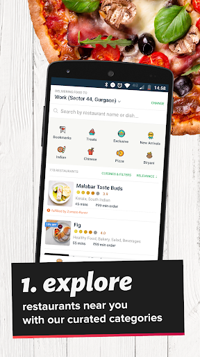 Zomato Order - Food Delivery App app (apk) free download for Android/PC/Windows screenshot